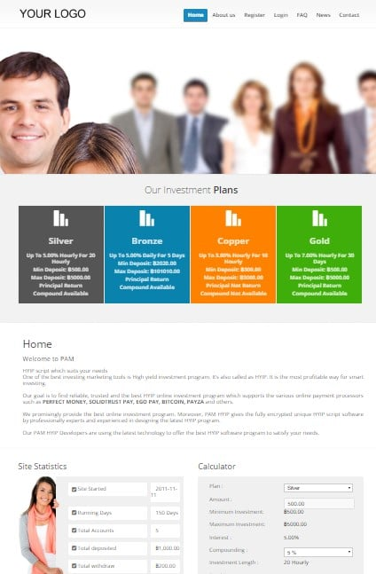 Hyip site script free