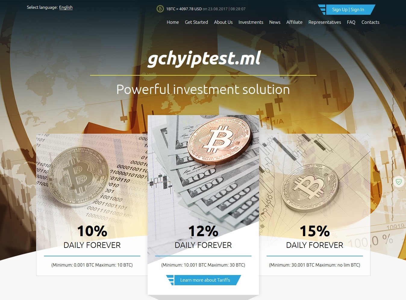 Premium Bitcoin Hyip Script 2017